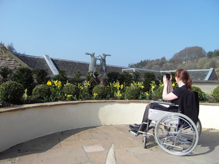 Wheelchair access to New Lanark Roof Garden