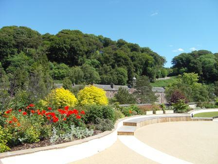 New Lanark Roof Garden Towards The Bell Tower Part Of World Heritage Site Final Design Selected Can Best